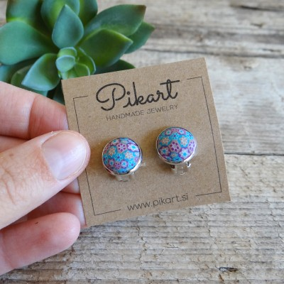 Turquoise Clip On Earrings - Cutest Floral Earrings