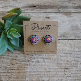Cool Colorful Funky and Abstract Clip On Earrings
