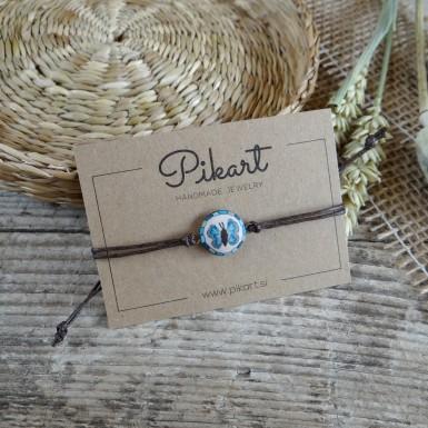 Blue Butterfly String Bracelet