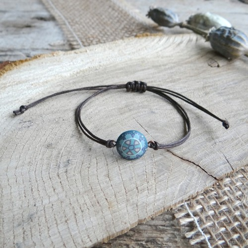 Pastel Bohemian Teal Stackable String Bracelet