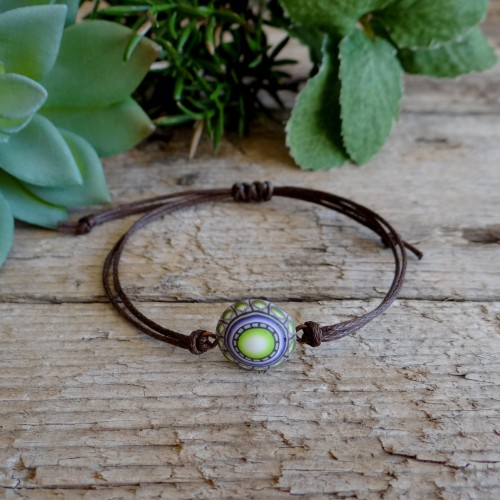 Cool Bracelet for Men and Women with a Mandala Charm