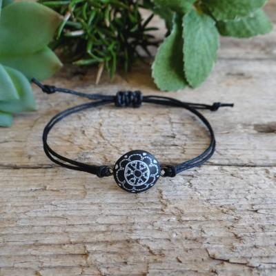 Black and White Mandala Charm Bracelet