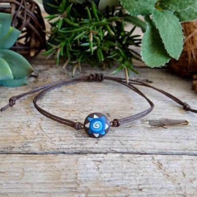 Blue and Brown Charm Bracelet for Men and Women