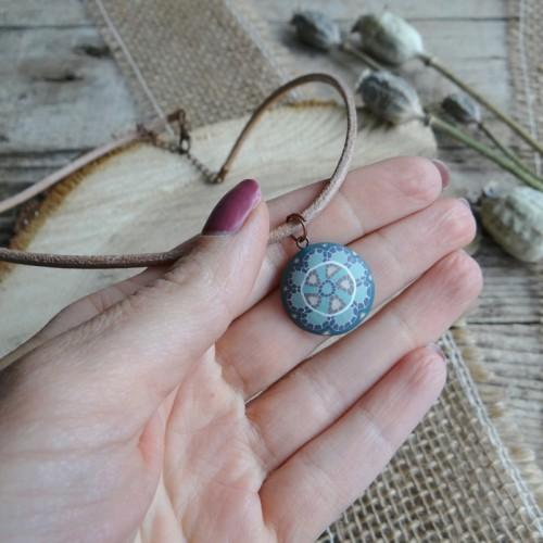Pastel Bohemian Mandala Choker Necklace