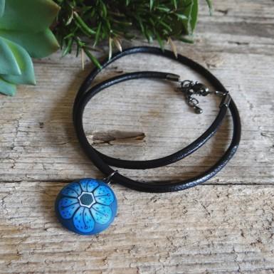 Unique Blue Choker Necklace for Women