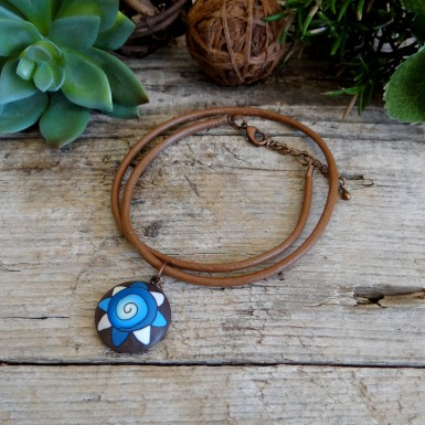 Brown Leather Boho Choker Necklace for Women
