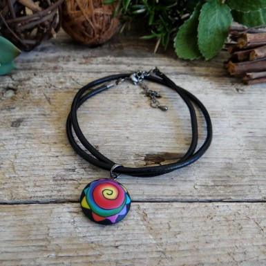 Cool Colorful Pendant Necklace for Men and Women
