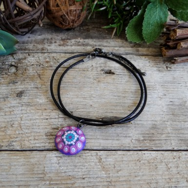 Cute Short Purple and Pink Necklace for Girls