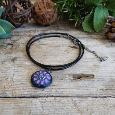Unique Black Leather Choker Necklace for Women