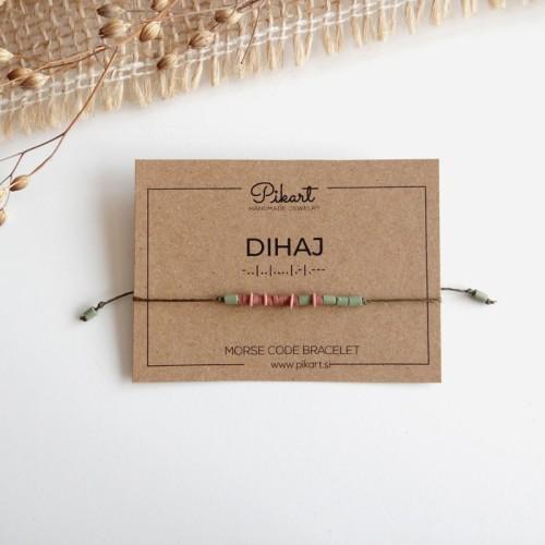 Custom Morse Code Bracelet with Secret Message DIHAJ