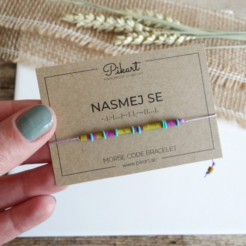 Custom Morse Code Bracelet with Secret Message NASMEJ SE