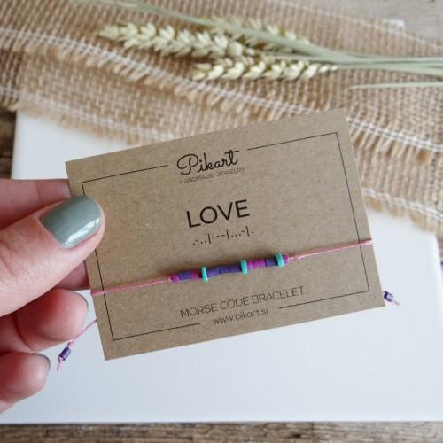 Custom Morse Code Bracelet with Secret Message LOVE