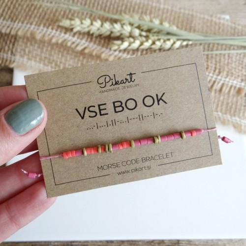 Custom Morse Code Bracelet with Secret Message VSE BO OK