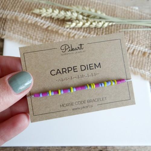 Personalized Morse Code Bracelet with Secret Message CARPE DIEM