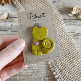 Adjustable Necklace with a Cute Cat Pendant Available in 14 Different Colours