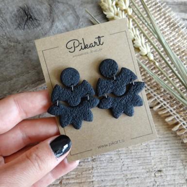 Black statement dangle earrings
