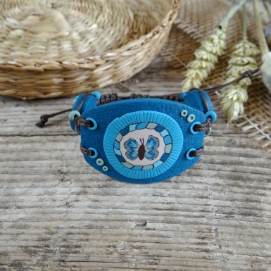 Wide Handmade Butterfly Bracelet