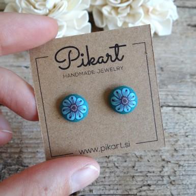 Turquoise Stud Earrings - Handcrafted Earrings