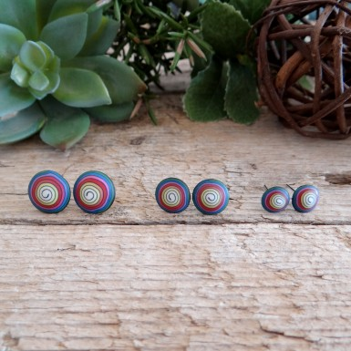 Cool Colorful and Funky Spiral Earrings for Men and Women