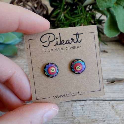 Cool Colorful Funky and Abstract Stud Earrings for Men and Women