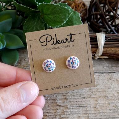 Fun Tribal Spiral Stud Earrings - Cool Retro Earrings