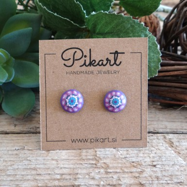 Cute Pink and Purple Stud Earrings For Girls