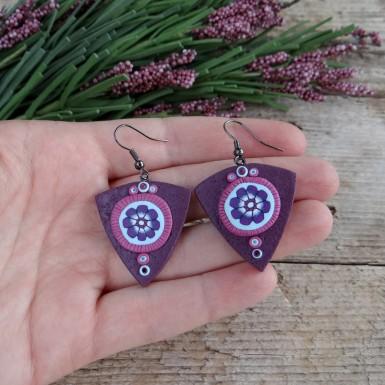 Unique Handmade Flower Drop Earrings